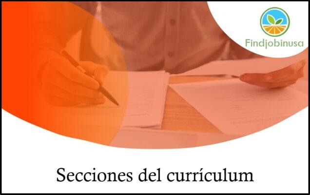 secciones del currículum